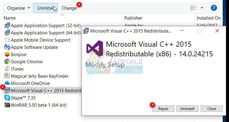 microsoft c++ redistributable for visual studio 2015
