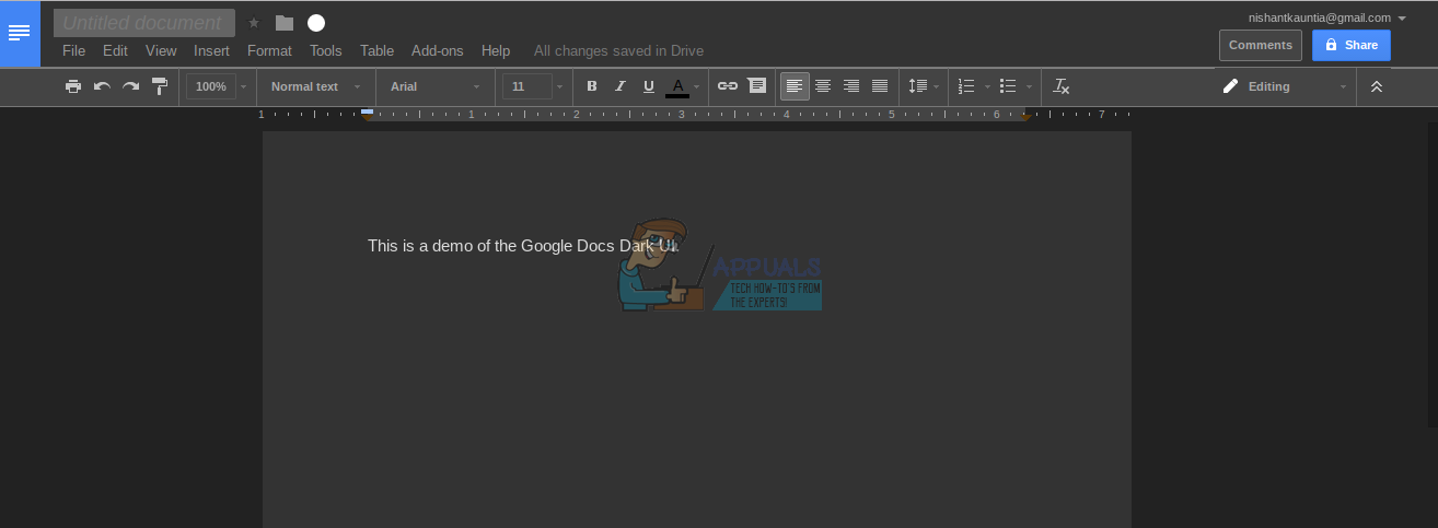 How to Install Google Docs Dark Theme - Appuals com