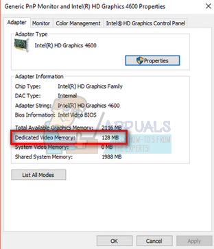 How to increase Intel Graphic's Dedicated Video Memory