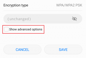 ip configuration failure wifi android