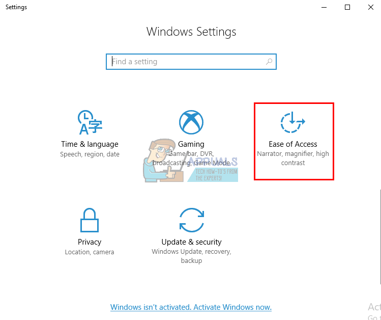 Fix windows button or key not working appuals from the windows settings page scroll down and click on ease of access ccuart Image collections