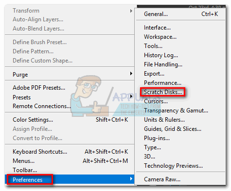 How to Fix Photoshop Error \u0027scratch disks are full\u0027 - Appuals.com