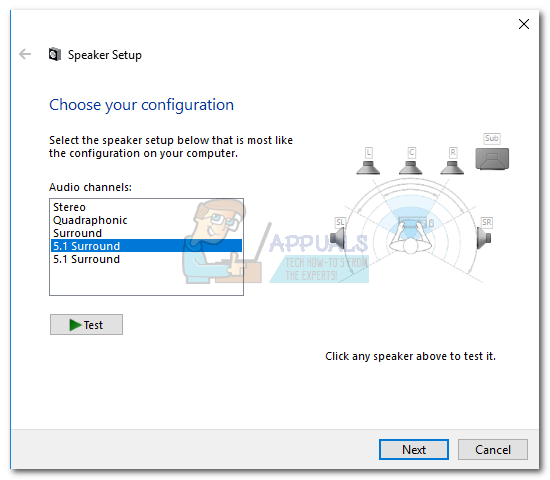 how to configure and test 5 1 surround sound on windows 10 appuals com