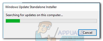 Fix: Windows Update Standalone Installer stuck at Searching for