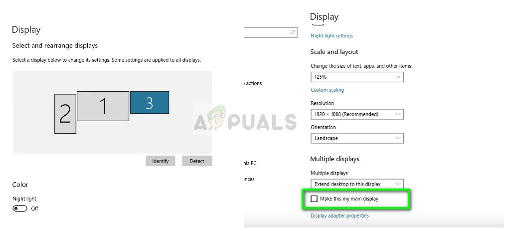 How to Change the Primary Monitor on Windows 10 - Appuals com