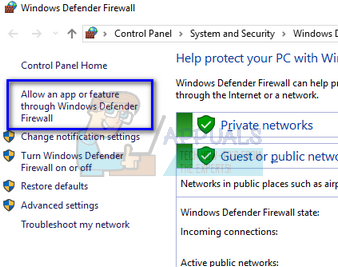 make an exception in windows defender