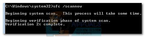 Führen Sie den SFC-Scan aus und warten Sie, bis der Vorgang abgeschlossen ist