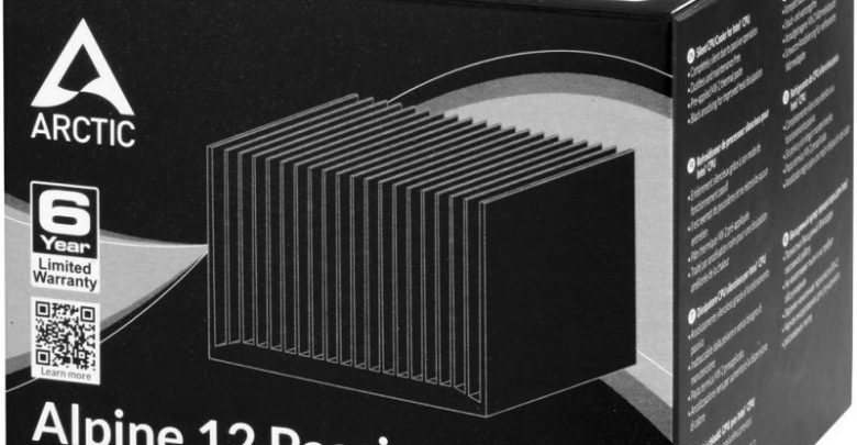 Photo of Arctic Alpine 12 Passive CPU Cooler For Intel Processors Is Great For The Silent Types