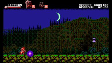 Photo of Bloodstained: Curse of the Moon, an 8-bit variant of Ritual of the Night, releasing May 24