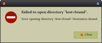 graphical directory permission error