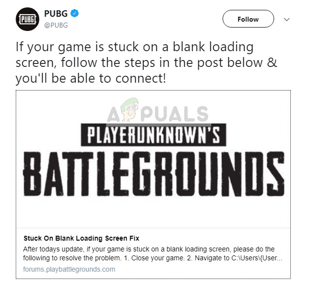 Fix: PUBG Stuck on Loading Screen - Appuals com