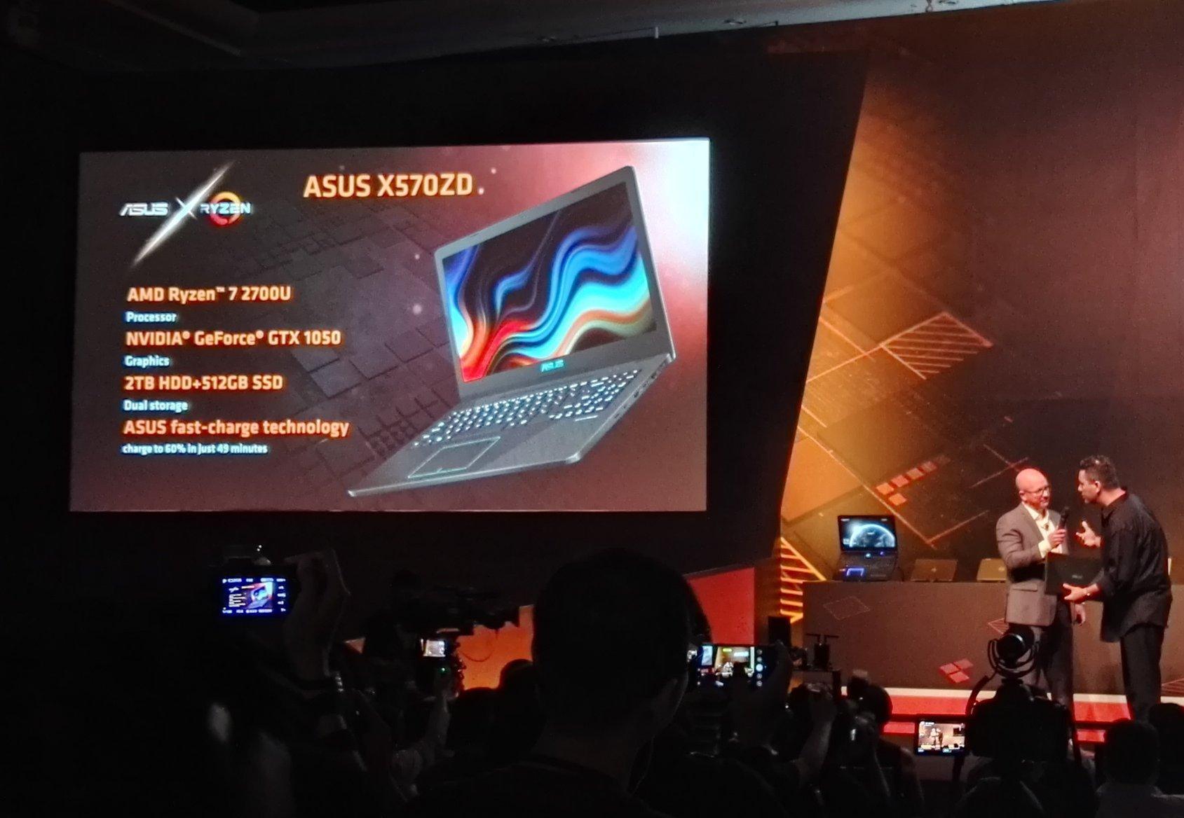 Asus X570ZD Notebook GTX 1050