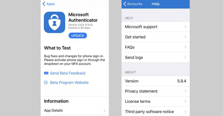 Photo of Microsoft Authenticator 5.9.4 Brings Bug Fixes With Phone Sign-in TFA Security On TestFlight