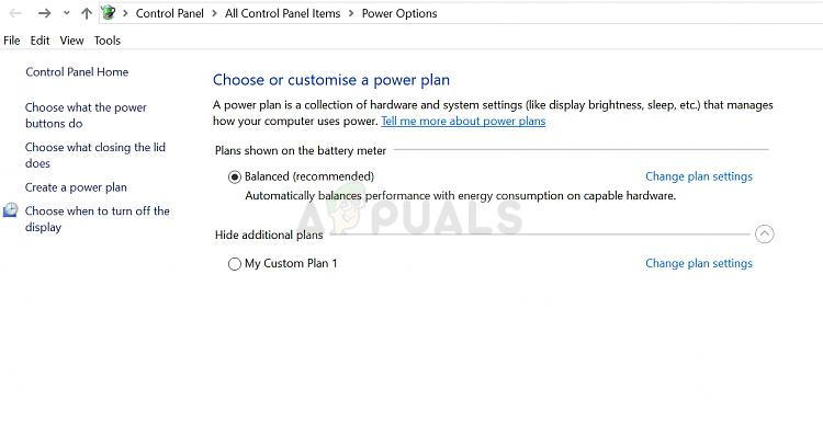 How to Restore Missing Power Plan Options on Windows 10 - Appuals com