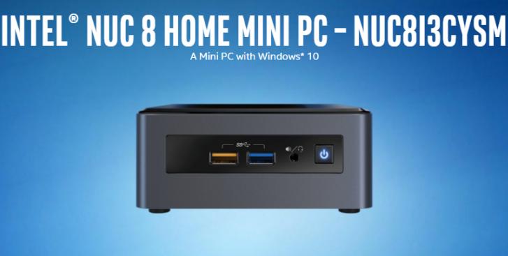 Intel NUC 8 Home Mini