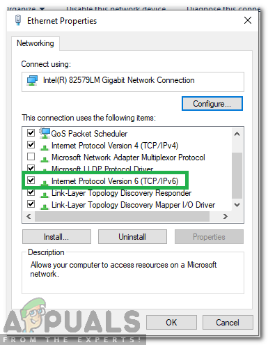 Ethernet doesn't have a valid IP configuration [Solved