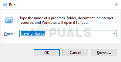 Opening Device Manager from Run dialog box