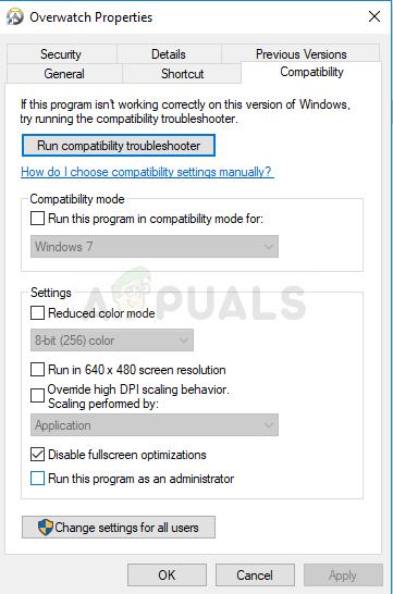 Disable fullscreen optimizations