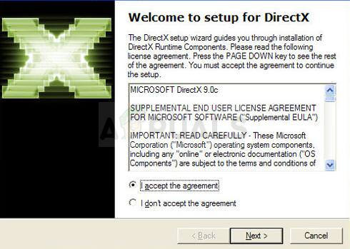 DirectX Terms and Conditions