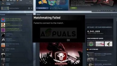 CS:GO Failed to connect to match