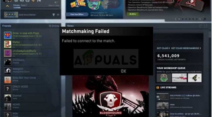 How to Fix CS:GO Failed to Connect to Match - Appuals com