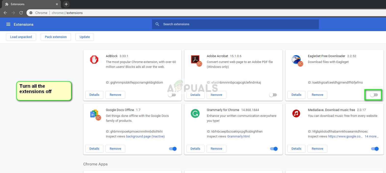 Web-Erweiterungen in Google Chrome
