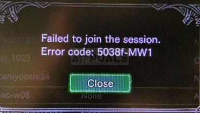 Monster Hunter World Error Code 5038f MW1
