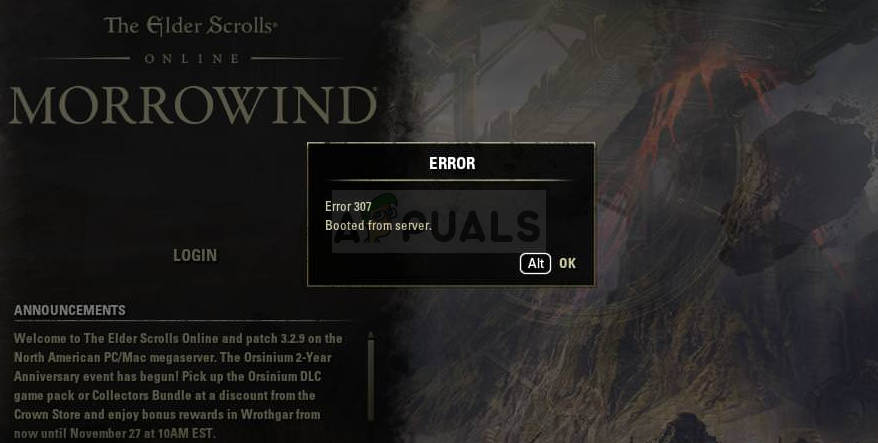 How to Fix ESO 'Elder Scrolls' Error 307 - Appuals com