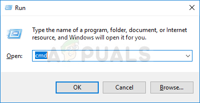 Opening Command Prompt using Run box