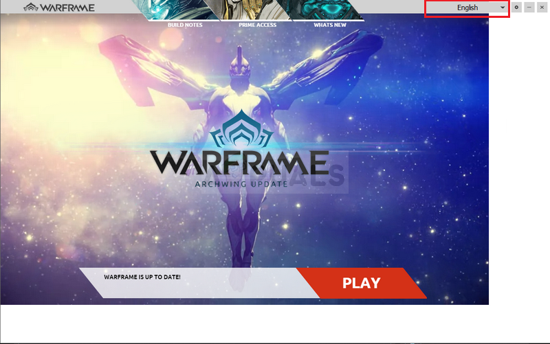 Changing the language of Warframe Launcher