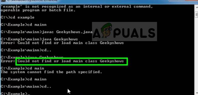 Fix: Could not find or load main class - Appuals com