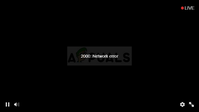 Fix: 2000 Network Error on Twitch - Appuals.com