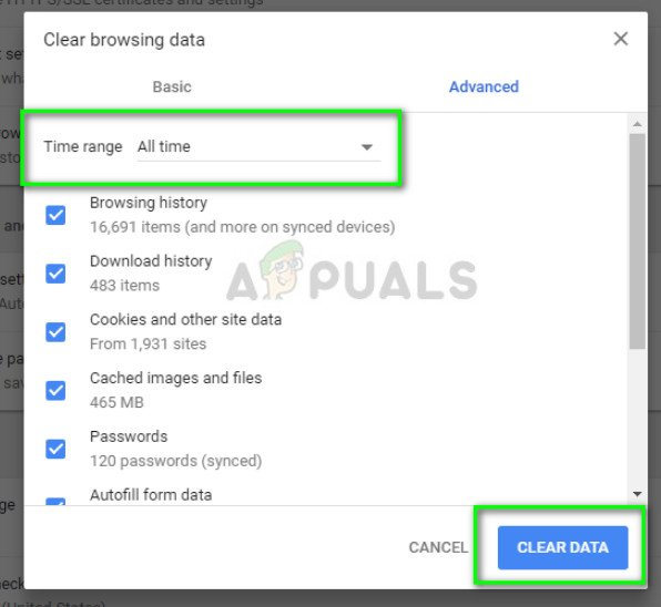 Deleting History and Cache in Google Chrome