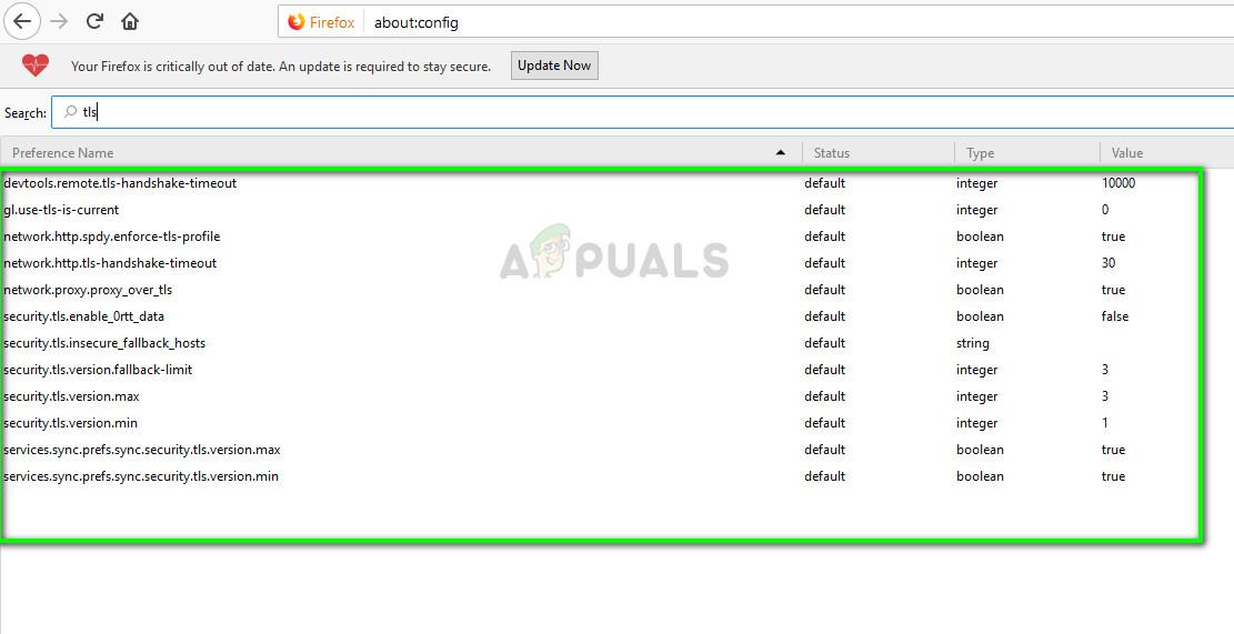 TLS und SSL3 in Mozilla