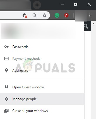 Manage people (profiles) - Google Chrome