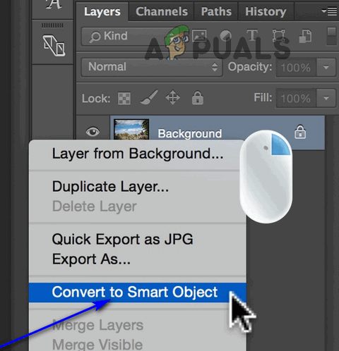 Convert to Smart Object in Photoshop