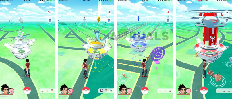 Different Gyms in Pokemon Go
