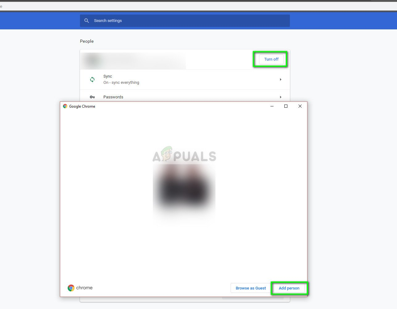 Creating a new profile and removing the old one in Google Chrome
