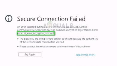 SSL_NO_CYPHER_OVERLAP in Firefox browser..