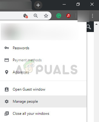 Removing user profile in Chrome