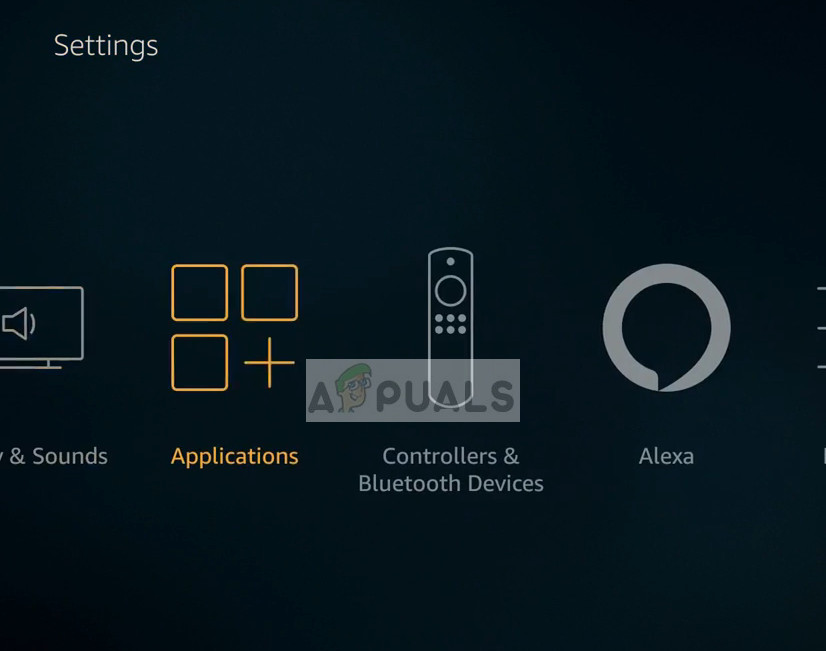 Applications - Settings in Amazon Fire TV