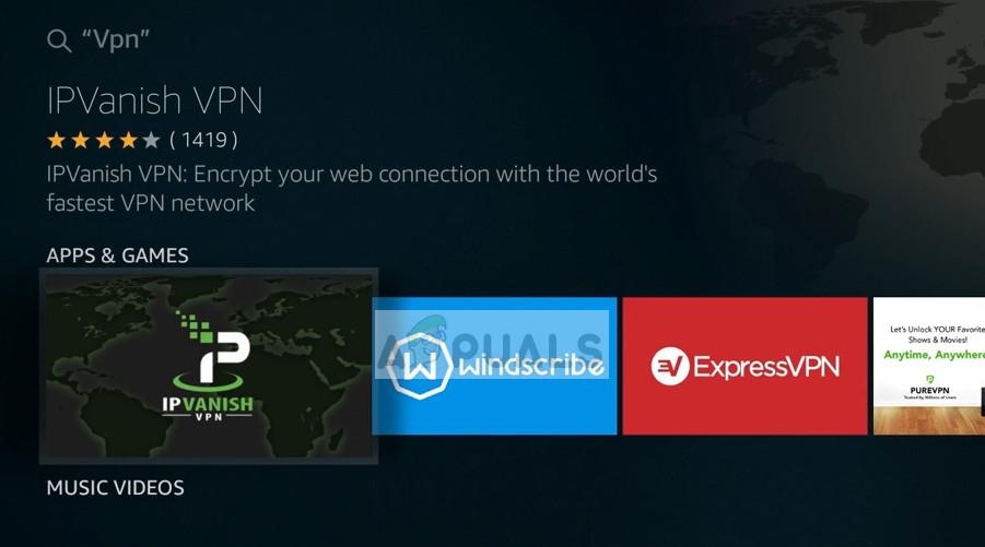 IPVanish VPN - Firestick App Store