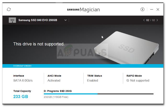 Samsung Magician - Das Laufwerk wird nicht unterstützt