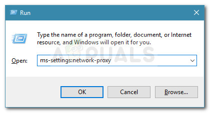 Run dialog: ms-settings:network-proxy