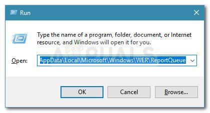Run dialog: %ALLUSERSPROFILE%\Microsoft\Windows\WER\ReportQueue