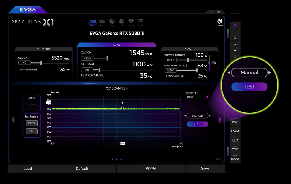 Nvidia Scanner Tool EVGA Precision X1