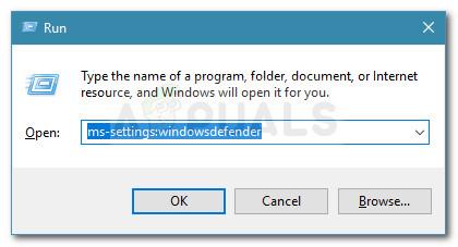 Run dialog: ms-settings:windowsdefender