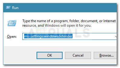 Dialog ausführen: ms-settings: windowsdefender