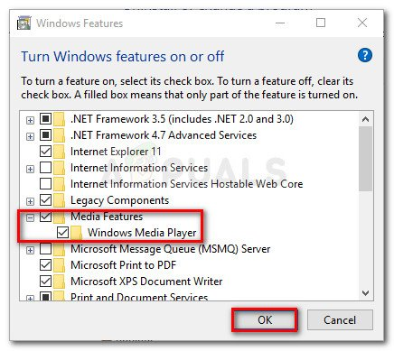 Enable Windows Media Features