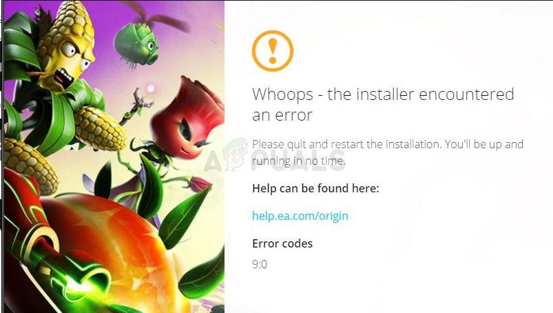 Origin Error Code 9:0